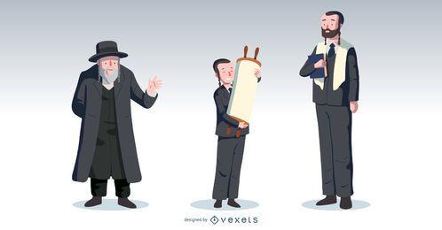 Pacote de vetores de pessoas Bar Mitzvah