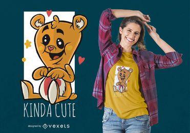 Diseño lindo de la camiseta del oso de Tedy