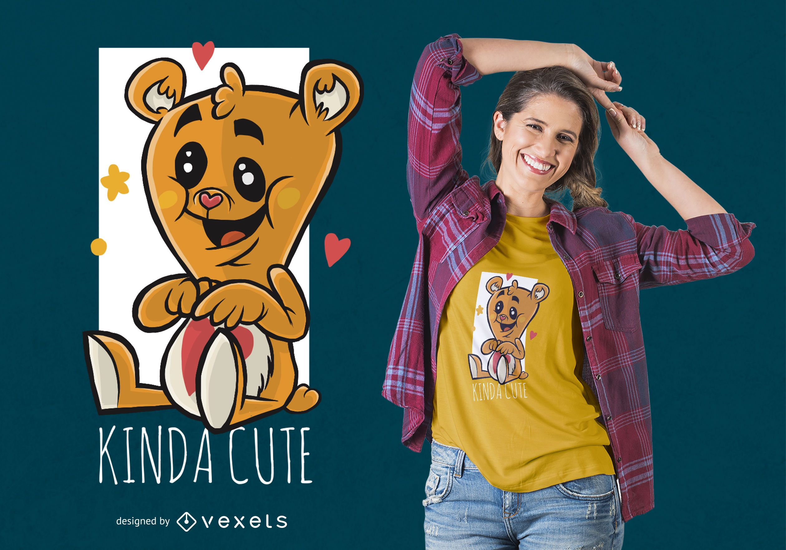 Diseño de camiseta Cute Tedy Bear