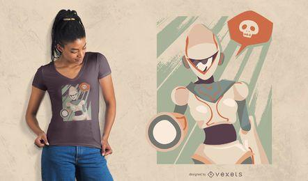 Diseño de camiseta Ginoide