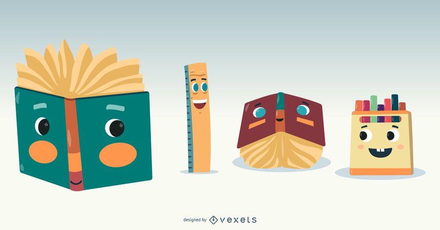 Vector de dibujos animados de la escuela