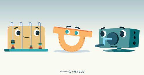 Diseño de vectores de elementos escolares