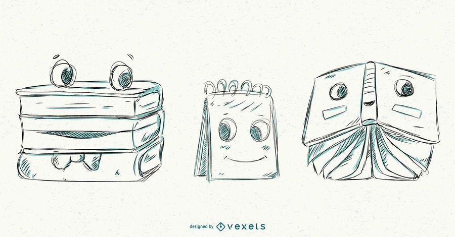 Escuela vector dibujado a mano estilo