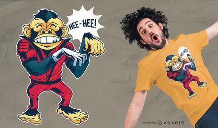 Diseño de camiseta dancing monkey jackson.