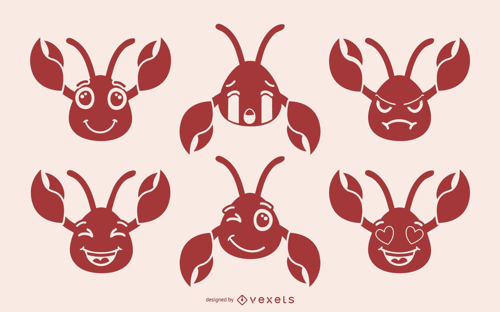 Colección Cute Crab Emoji