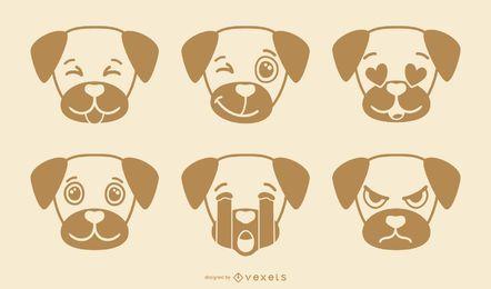 Colección Cute Dog Emoji