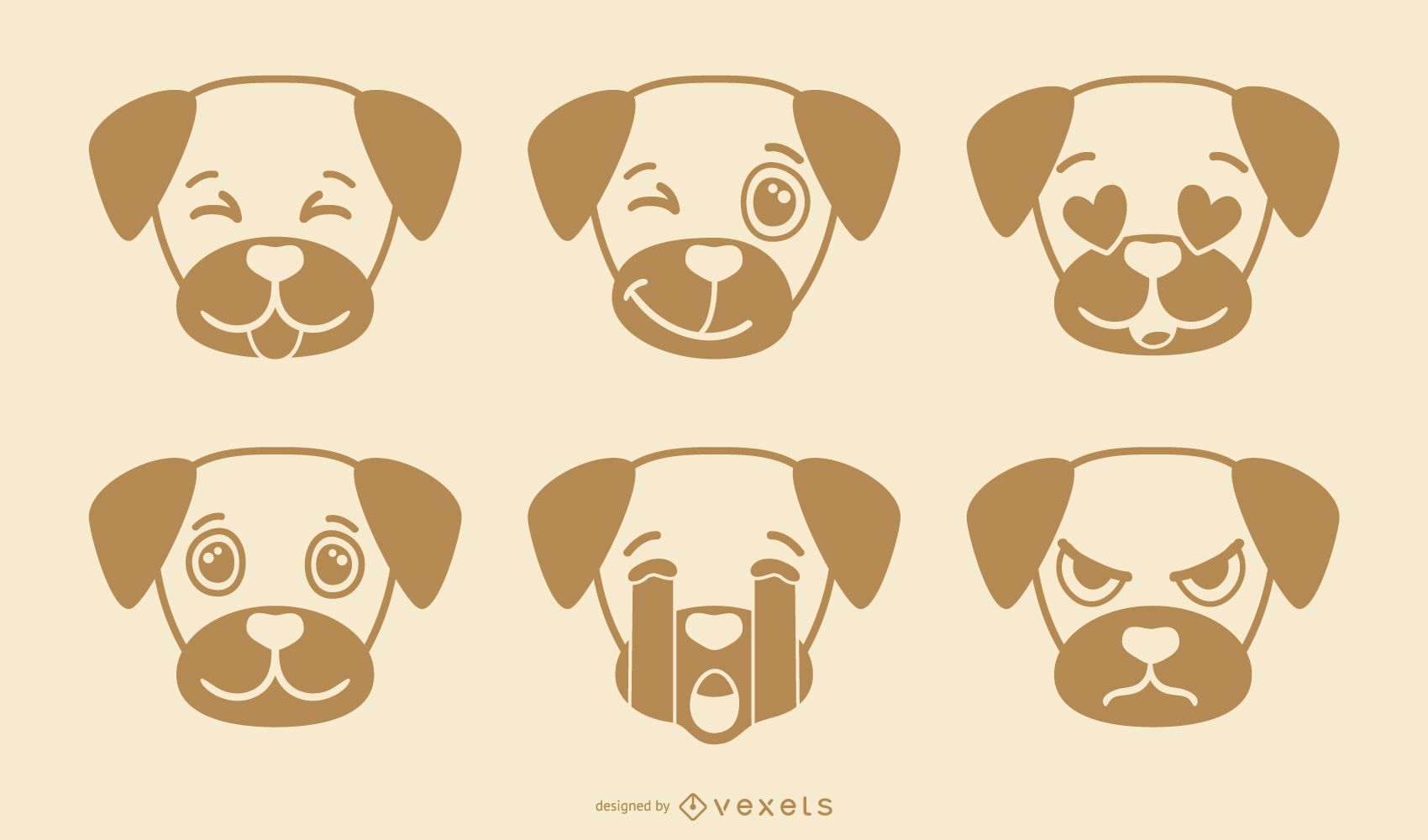 Cute Dog Emoji Collection