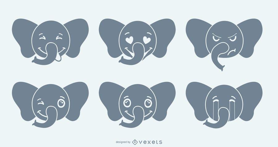 Set de Emojis de Elefante