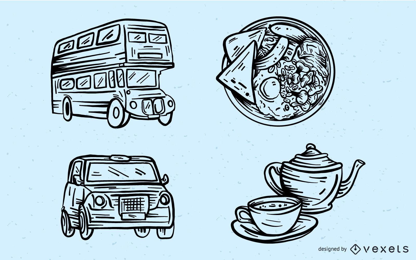 Conjunto de elementos culturales de Stroke London