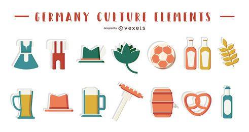 Colección de elementos de la cultura de Alemania.