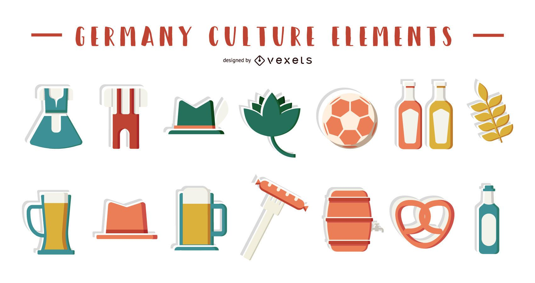 Germany culture elements collection