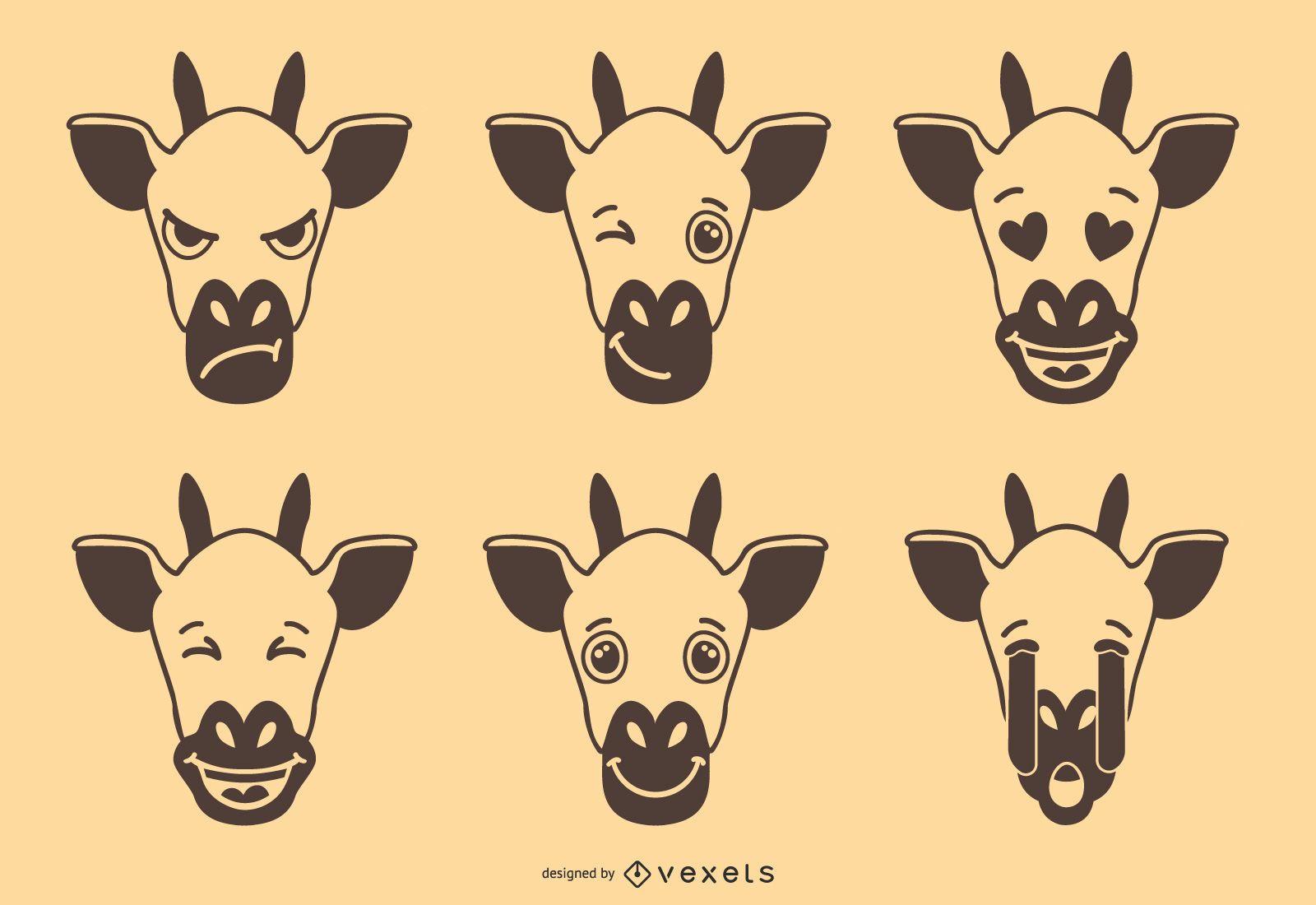 Colección Linda Jirafa Mood Emoji
