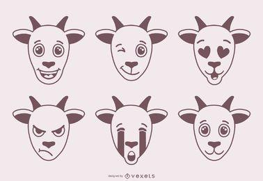 Goat Emojis Design