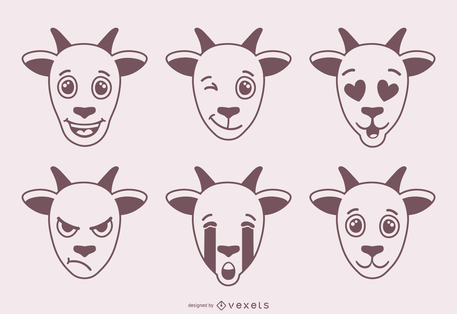 Diseño de emojis de cabra