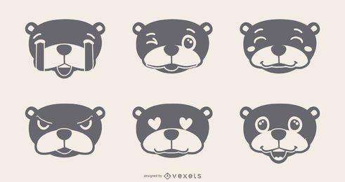 Conjunto de Emojis Groundhog