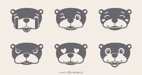Murmeltier Emojis Set