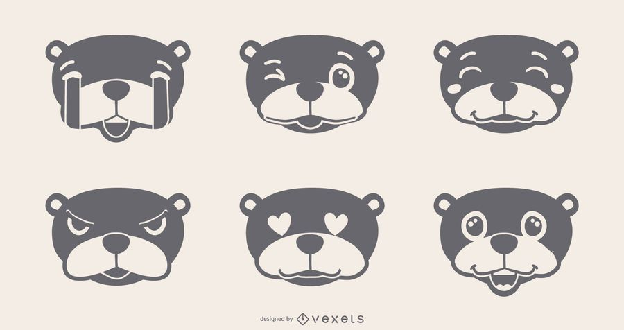 Groundhog Emojis Set