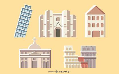 Coleção de edifícios italianos