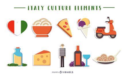 Colección de elementos culturales de Italia