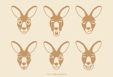Set de Emojis de Canguro