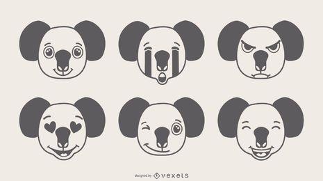 Koala Emojis Design