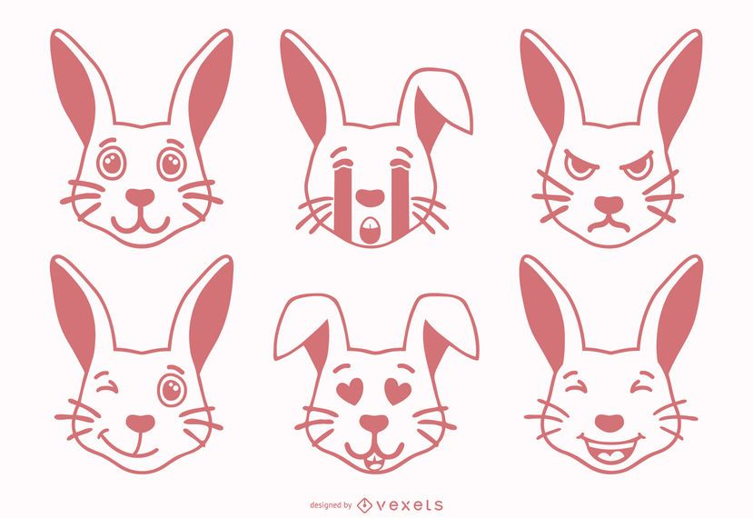 Conejo Emoji Set
