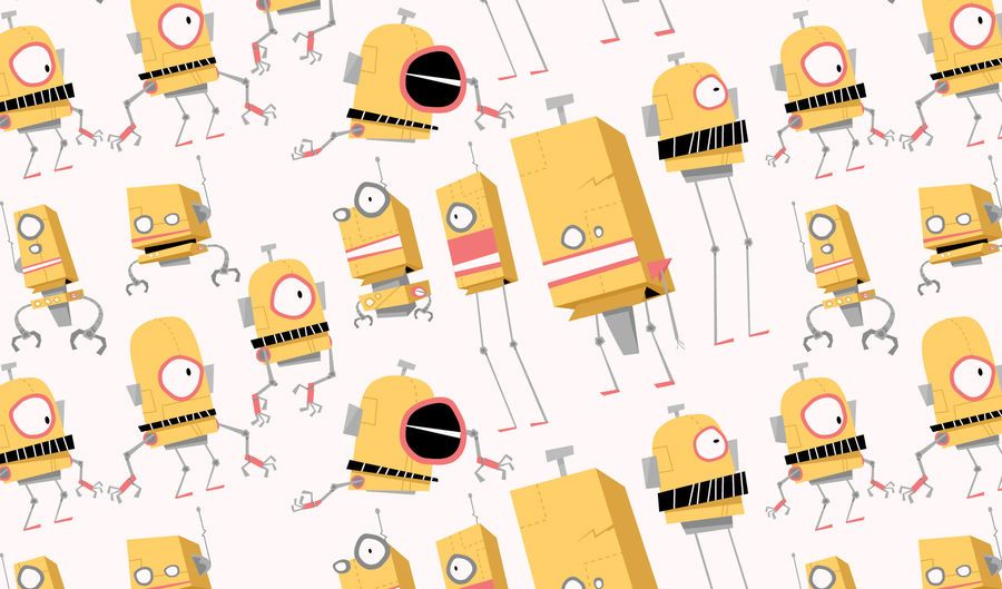 Minion Robots Vector Set