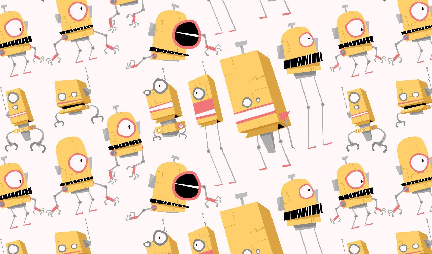 Minion Robots Vector Set
