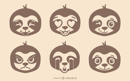 Conjunto de emoji de pereza