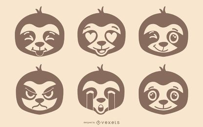 Sloth Emoji Set