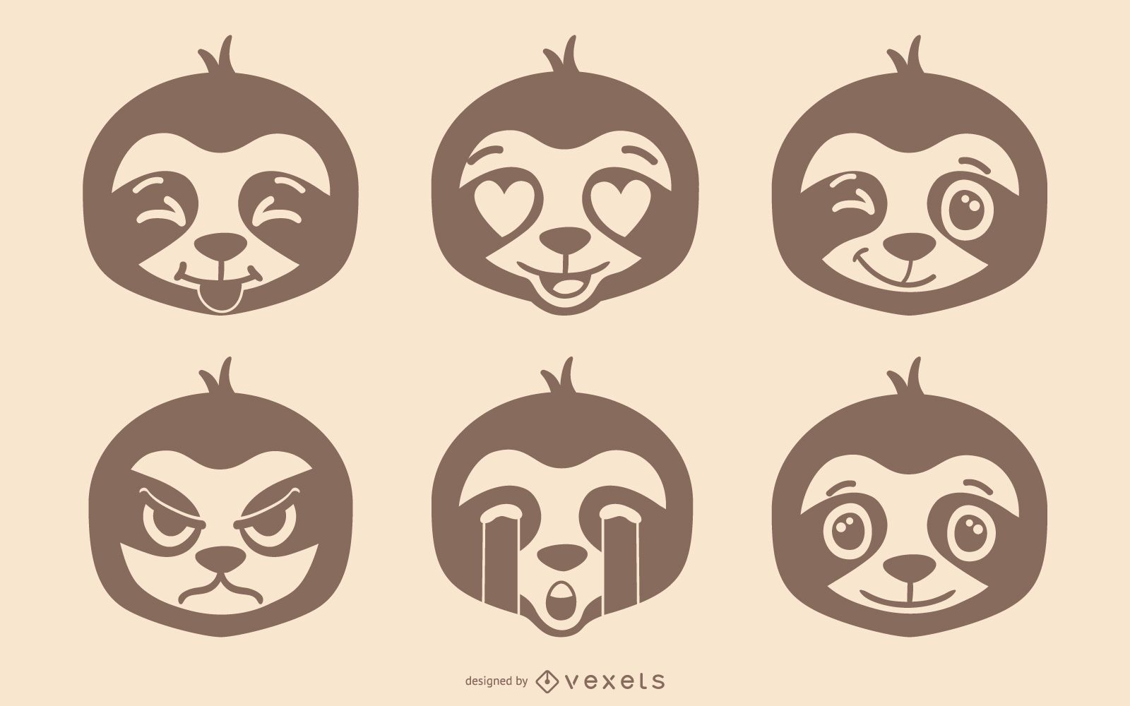 Conjunto de Emoji Preguiça