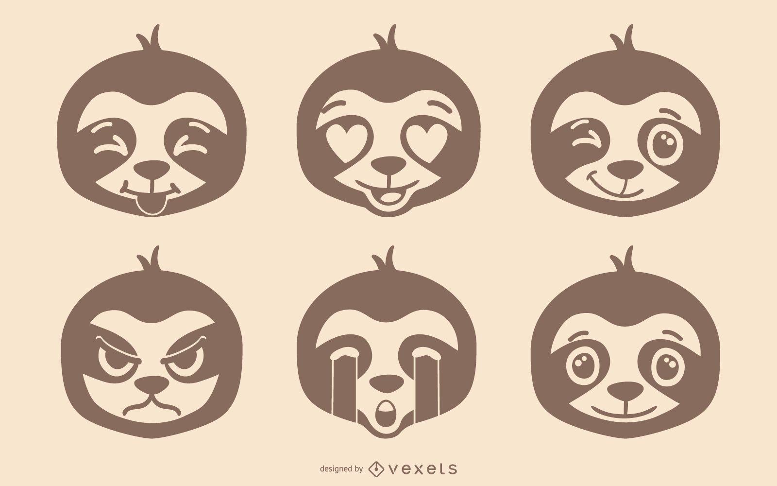 Sloth Emoji Set