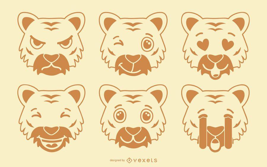 Tigre Emoji Set