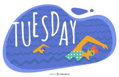 Tuesday Cartoon Illustration Design
