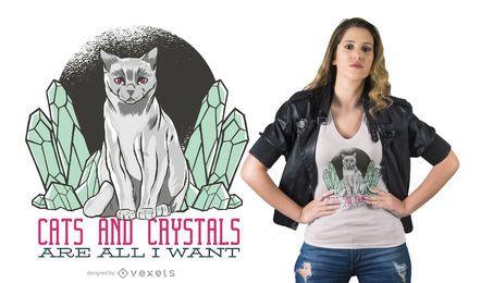 Crystal Cat T-shirt Design