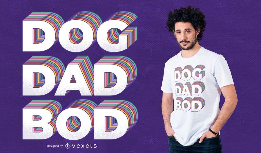 Projeto do t-shirt do Bod do pai do cão