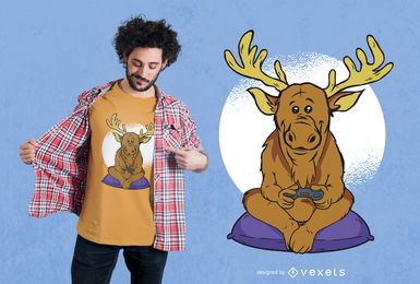 Elk Video Games Design de Camisetas