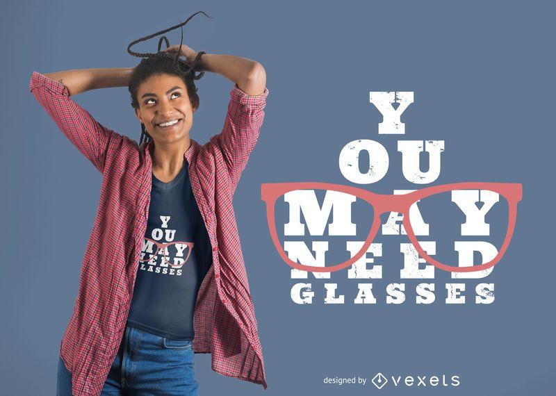 Precisa de design de t-shirt de óculos