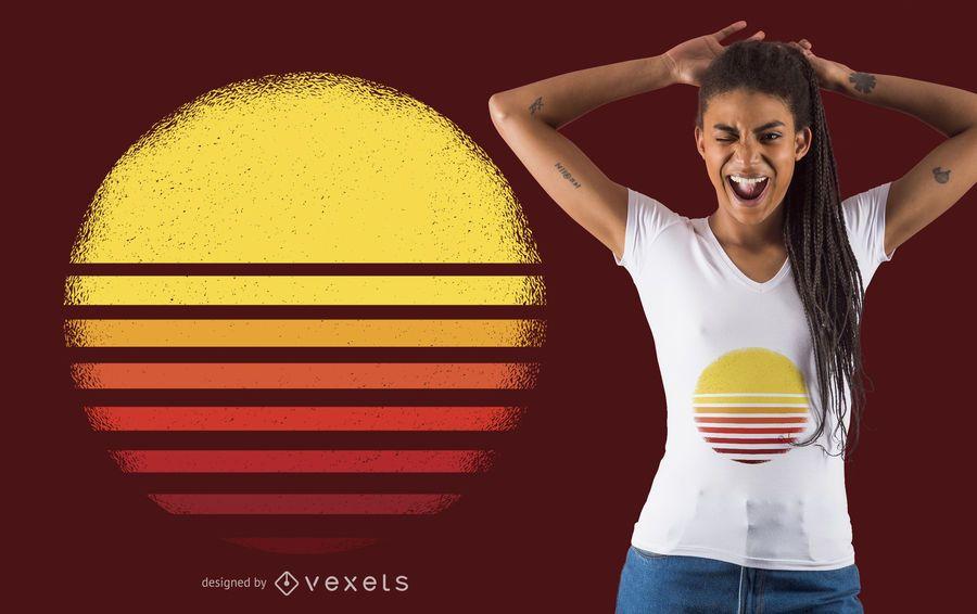 Diseño de camiseta al atardecer