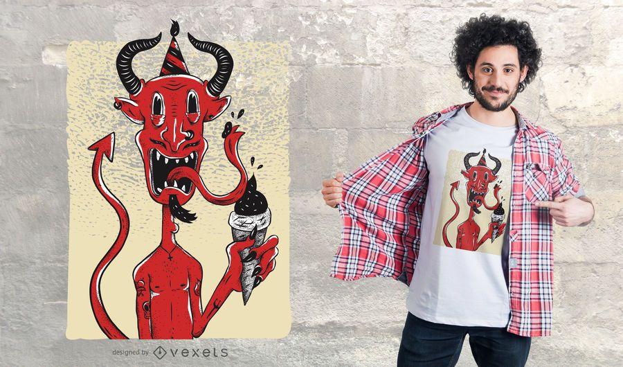 Projeto do t-shirt do aniversário do diabo