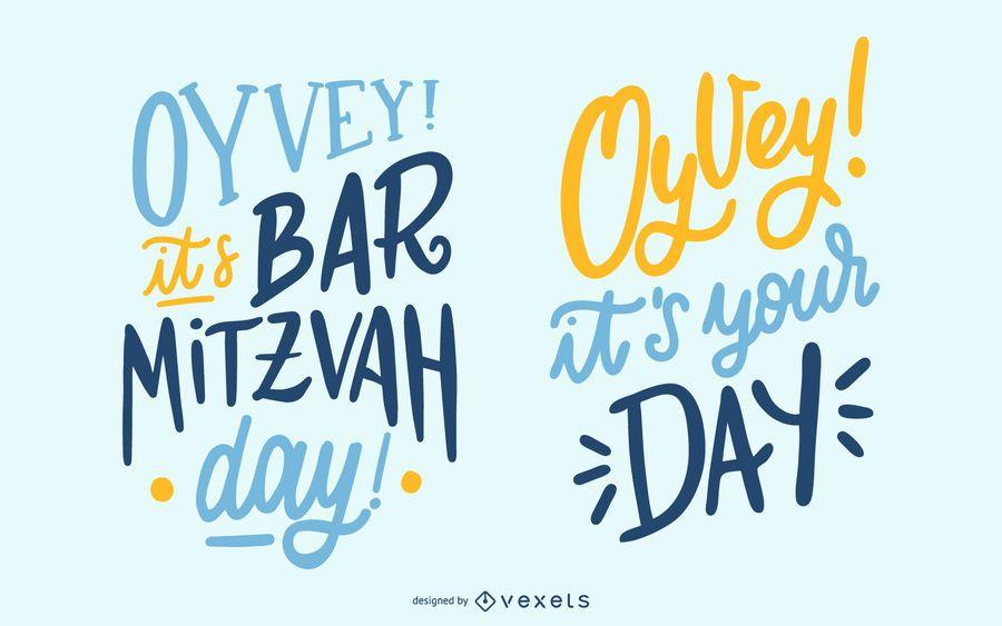 Diseño de tipografía Bar Mitzvah