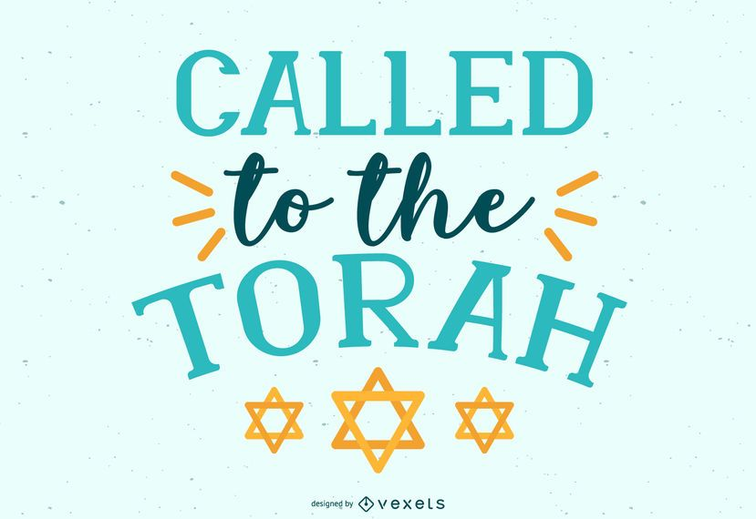 Called to the Torah Lettering Design