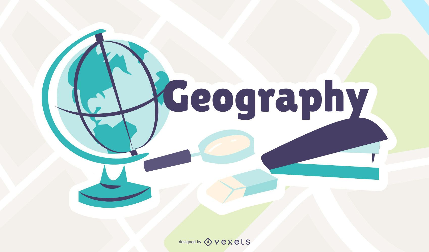 Geography Cartoon Illustration