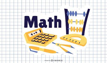 Ilustração dos desenhos animados de matemática