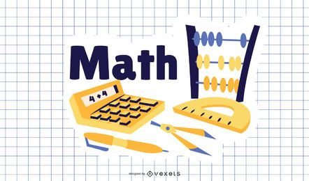 Math Cartoon Illustration