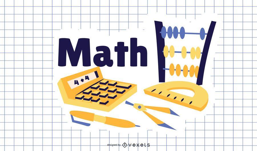 Math Cartoon Illustration