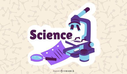 Science Cartoon Illustraiton