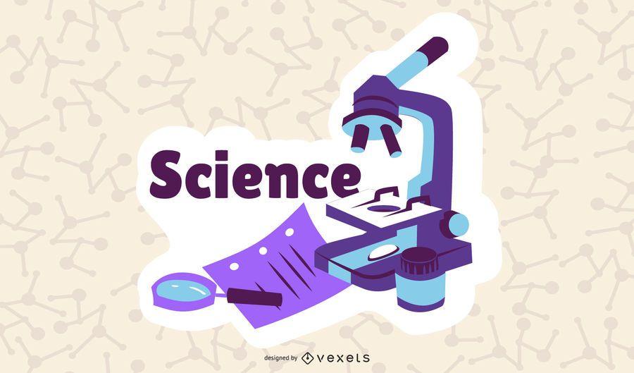 Wissenschaft Cartoon Illustraiton