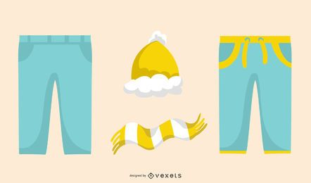 Colorful Clothes Vector Set