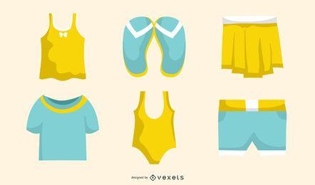 Conjunto de moda de verão